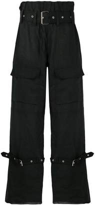 Marques Almeida Marques'almeida buckled wide leg trousers