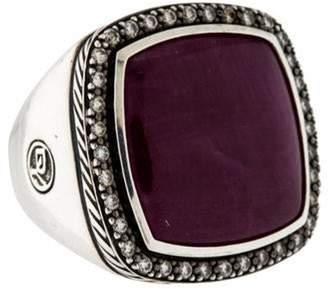 David Yurman Ruby & Diamond Moonlight Ice Ring Black Ruby & Diamond Moonlight Ice Ring