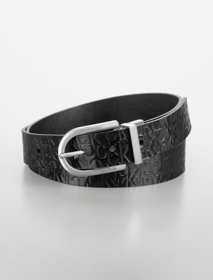 Reversible Embossed Logo Belt