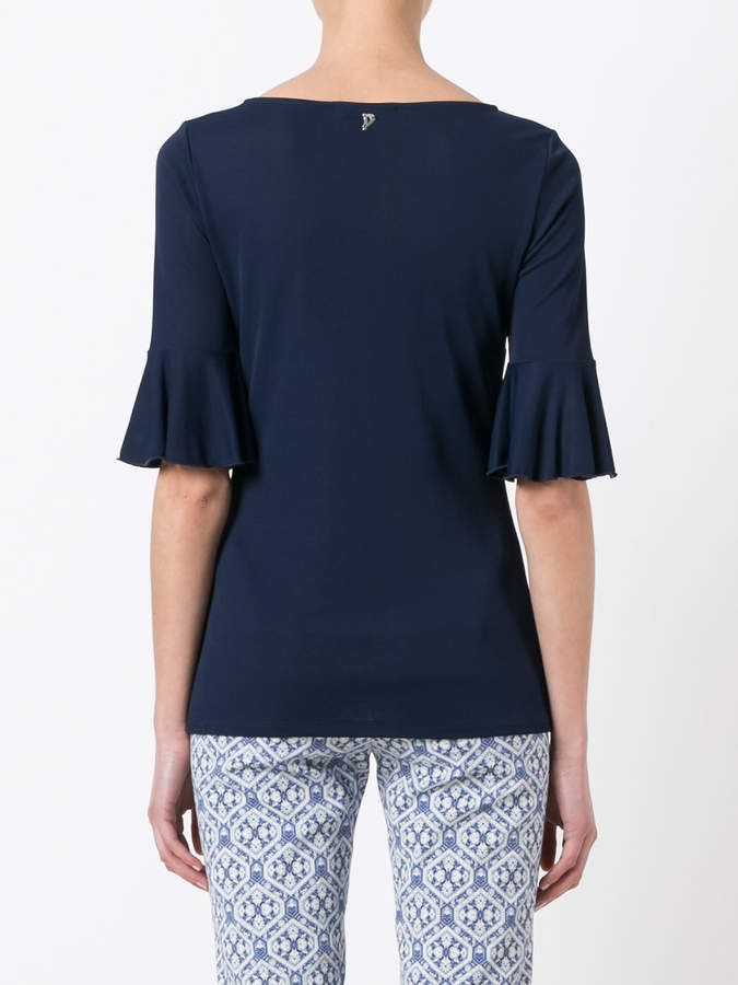 Dondup pleated trim blouse