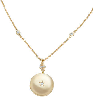 Monica Rich Kosann 18K Gold And Diamond Locket Necklace