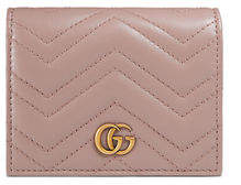 Gucci GG Marmont Quilted Leather Flap Card Case
