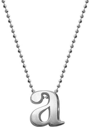 """Alex Woo Sterling Silver Little Letter A Necklace, 16"""""""
