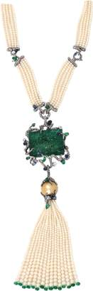 Arunashi Carved Emerald Necklace
