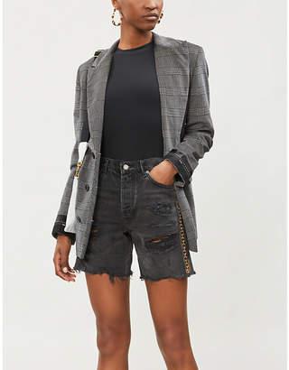 The Kooples Embellished high-rise denim shorts