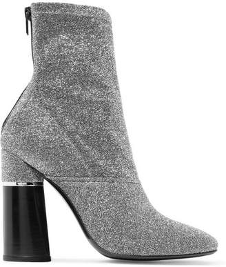 3.1 Phillip Lim Kyoto Metallic Stretch-knit Sock Boots - Silver