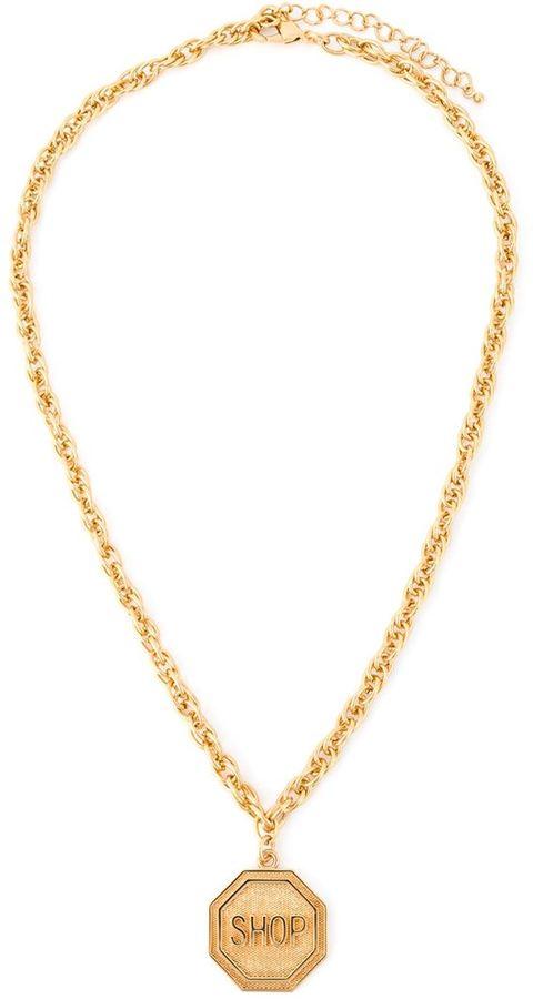 MoschinoMoschino Shop medallion necklace