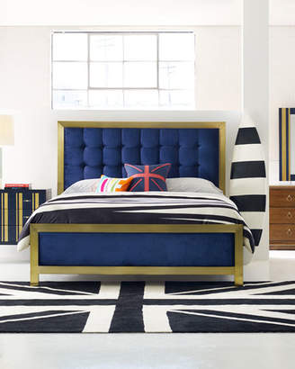 Hooker Furniture Cynthia Rowley for Balthazar Tufted King Bed
