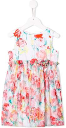 Miss Blumarine floral print party dress