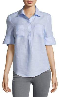 Lord & Taylor Linen Button-Front Top