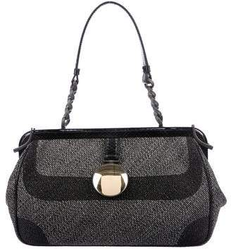 Bottega Veneta Snakeskin-Trimmed Shoulder Bag