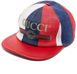 Gucci Logo-embellished linen baseball cap