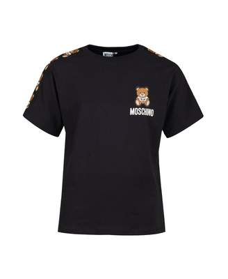 Moschino Unisex Taped Toy Logo T-shirt Colour: BLACK, Size: Age 4
