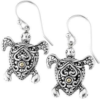 Samuel B Jewelry Sterling Silver & 18K Yellow Gold Turtle Drop Earrings