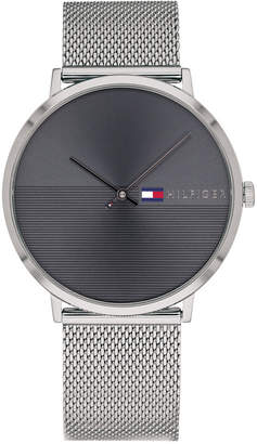 Tommy Hilfiger Men's Stainless Steel Mesh Bracelet Watch 40mm, Created for Macy's