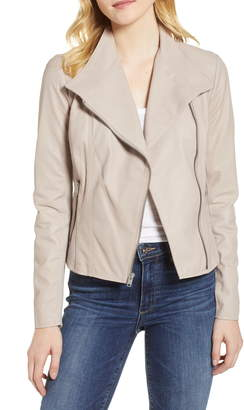 Andrew Marc Felix Stand Collar Leather Jacket