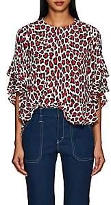 Robert Rodriguez Women's Lena Leopard-Print Blouse - Red