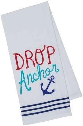 Design Imports Drop Anchor Embellished Cotton Dishtowels (Set of 2)