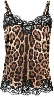 Dolce & Gabbana leopard print cami