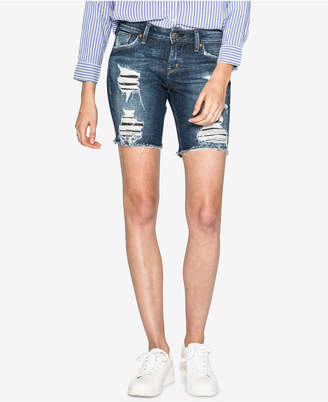 Silver Jeans Co. Ripped Denim Bermuda Shorts