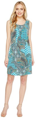 Christin Michaels - Kelly Sleeveless Printed Shift Dress Women's Dress $69 thestylecure.com