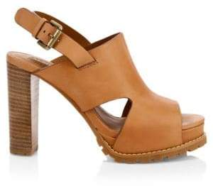 See by Chloe Brooke Leather Platform Sandals