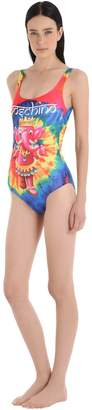 Elephant Tie Dye Lycra Bathing Suit