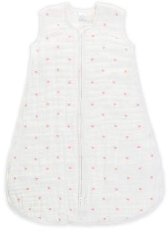 Aden + Anais White And Pink Lovebird Mid Season Sleeping Bag
