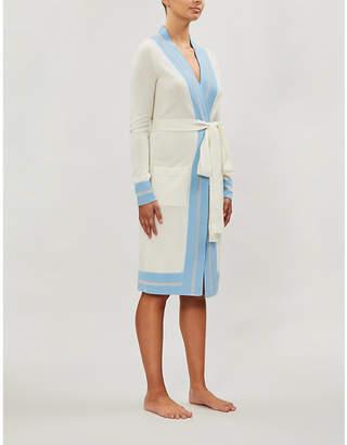 Madeleine Thompson Arthur rainbow-trim cashmere cardigan