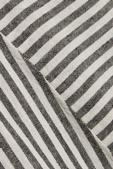 Madewell - Daphne Striped Linen-blend Mini Dress - Gray 2