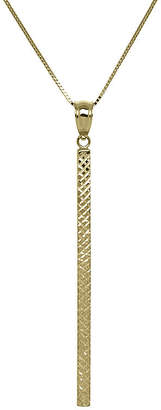 FINE JEWELRY 14K Yellow Gold Square Tube Bar Pendant Necklace