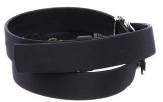 Oscar de la Renta Canvas Embellished Waist Belt