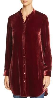 Eileen Fisher Petites Velvet Button-Down Tunic
