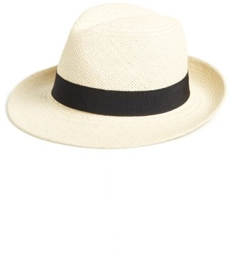Women's Halogen Straw Panama Hat - Beige $39 thestylecure.com