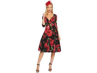 Unique Vintage Kelsie Wrap Dress Women's Dress