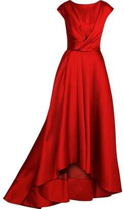 Jason Wu Wrap-Effect Pleated Satin-Crepe Gown
