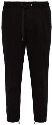 Dolce & Gabbana 3d Logo Panel Tailored Track Pants - Mens - Black