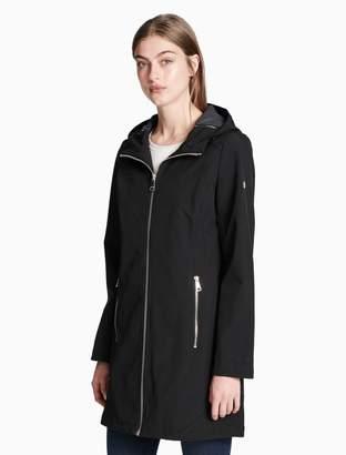 Calvin Klein soft shell hooded walker jacket