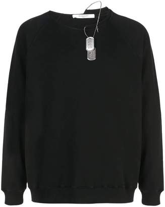 Givenchy distressed collar sweatshirt black
