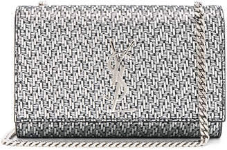 Saint Laurent Small Chevron Monogramme Kate Chain Bag