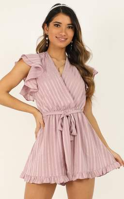 Showpo Just Stay On Track And Never Look Back Playsuit in blush - 4
