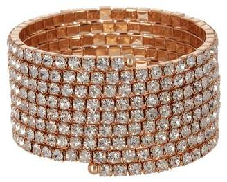 Free Press Crystal Coil Flex Wrap Bracelet