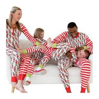 Shukqueen Funny Elfin Striped Matching Christmas Family Pajamas Sets  Sleepwear Nightwear 99a433b9b