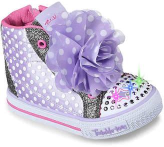 Skechers Twinkle Toes Shuffles Flower Fun Toddler Light-Up Sneaker - Girl's