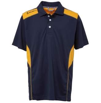 Kukri Boys Premium Classic Polo Navy/Amber