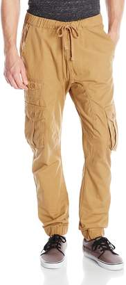 Akademiks Men's River Cargo Twill Jogger Pants