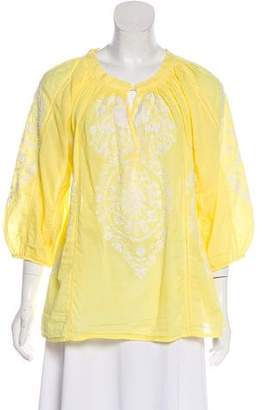 Melissa Odabash Embroidered Floral Tunic