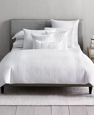Hotel Collection CLOSEOUT! Embroidered Diamonds Queen Duvet Cover