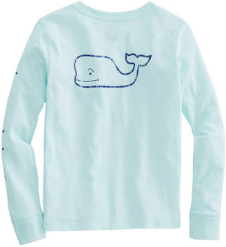 Vineyard Vines Girls Long-Sleeve Vintage Whale Pocket Tee