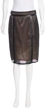 RED Valentino Mesh Knee-Length Skirt
